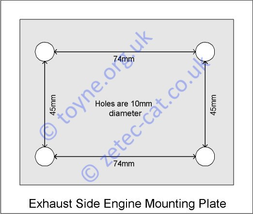 Exhaust Engine Mounting Plate
