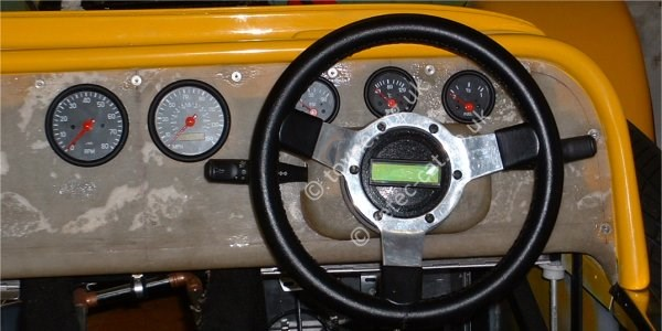 Dashboard with instruments in place