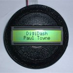 Steering wheel centre with LCD display